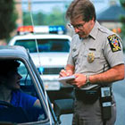 Cop Issuing Ticket
